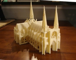3D Printer image of cathedral