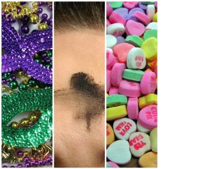 Mardi Gras Ash Wed V Day