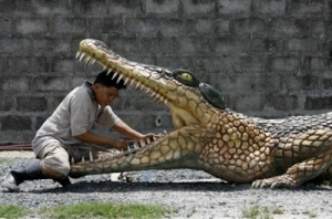 Cleaning Croc