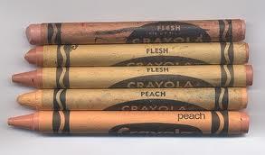 flesh colored crayon