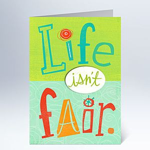 Life Isn't Fair Unemployment Card