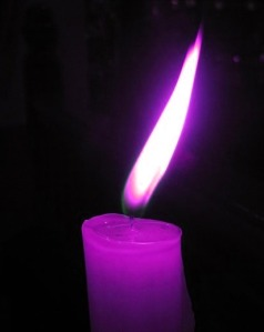 1 purple candle
