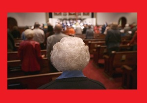 elderly congregants