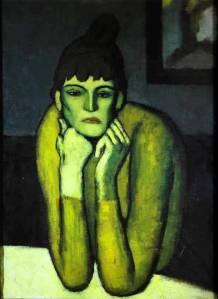 Picasso_WomanWithChignon1901
