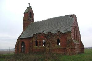 Crumbling church building
