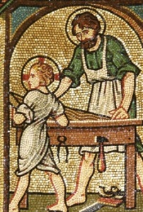 Mosaic St Joseph the worker