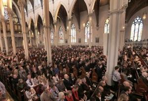 packed church