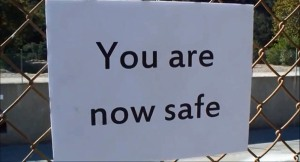 You are now safe