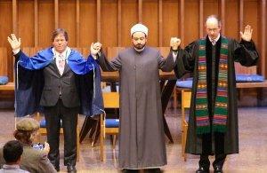 Jewish, Muslim & Christian Leaders at Bradley Hills Presbyterian Church, Bethesda, MD following the Paris attacks.