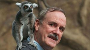 John Cleese and a Lemur