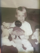 Jan with doll circa 1959