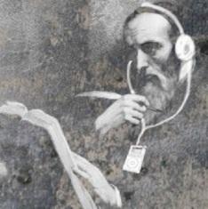 Jesus with ear phones