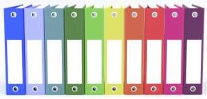 rainbow binders